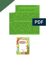 Diseño de Carpeta Pedagógica Nivel Inicial