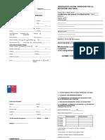 Formulario de Informe de mordeduras Chile