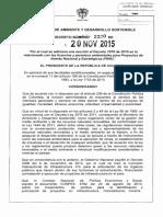 5b-Decreto 2220 de 2015 Minambiente Adiciona Dcto Único 1759 De2015 Licencias Permisos Amb - Proyectos Int Nal Estrat Pine