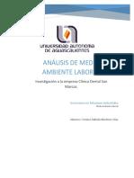 Analisis Medio Ambiente Laboral