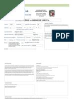 Syllabus Ingenieria Forestal Creditos
