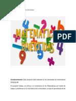 proyecto 123 matematicas