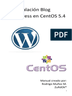 Instalacion Blog Wordpress en Centos 5