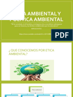 Ética Ambiental y Política Ambiental