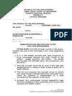 plea bargaining motion to set FOR EARLY hearing ALAN DAVIDSON ALMENDRAS.docx