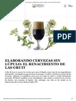 Cerveza Artesana _ Elaborando Cervezas Sin Lúpulo_ El Renacimiento de Las Gruit