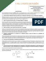 Práctica No 1 química orgánica determinación de punto de fusión