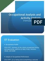 Analysis occupational