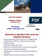 Gestión Humana Primera Semana 2019 02