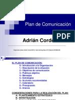 Plan de Comunicacion.p.point. Pucmm 2014-15. Adrian Cordero