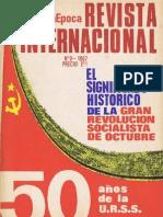 Revista Internacional - Nuestra Epoca N° 9 (77) -  AÑO VII - Septiembre 1967