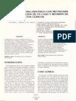 Hemangiosarcoma esplénico caso clinico