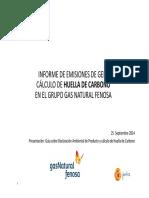 09 Informe de Emisiones de GEI y Calculo de Huella de Carbono en El Grupo Gas Natural Fenosa