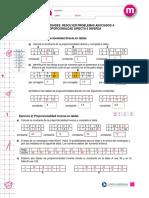 Ejercicios de Tabla de Proporcionalidad(Solucion)