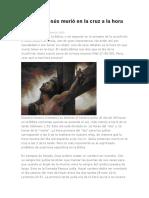 Por Qué Jesús Murió en La Cruz a La Hora Novena