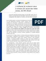Release Consumo Das Mulheres Midia