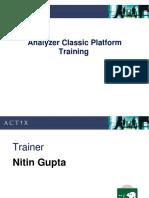 Analyzer Classic Platform Tranining