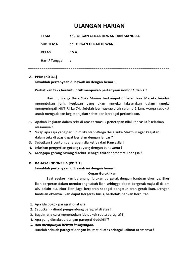 Soal Ulhar T1st1 5a Docx