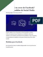 Medidas Cover Redes Sociales