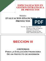 Sección III y IV