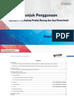 USER GUIDE E-Purchasing v.5 Penyedia