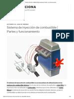 INYECCIÓN de COMBUSTIBLE (Sistema) _ Partes y Su Funcionamiento