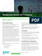 Wonderware Version 2017 Licensing