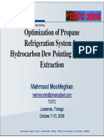 Optimization of Propane Refrigeration System for Hydrocarbon Dew by Mahmood Moshfeghian on 21 Jul 08.Pp