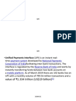 UNIFIED PAYMENT INTERFACES(UPI)