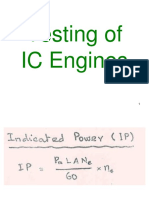 Testing of IC Engines