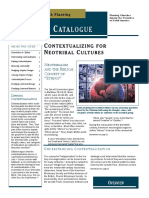 Contextualizing for Neotribal Cultures