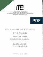 Programa 9° CASTELLANO Y LITERATURA