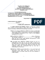 Complaint Affidavit Loida
