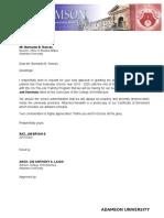 Application Letter Osa Uniform Exception