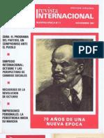 Revista Internacional - Edicion Chilena - Nuestra Epoca N°11 - Noviembre 1987