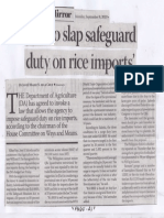 Business Mirror, Sept. 9, 2019, DA to slap safeguardduty on rice imports.pdf