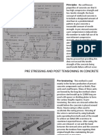 Prestressing and Post Tensioning