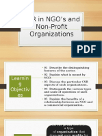 CSR in NGOs and Non Profit Organizations REYES 3