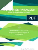 Word Order Presentation in English