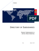 List of Danish Subsidiaries-January 2017