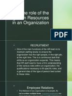 Roles and importance of Human Resource in an organization