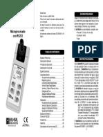 manual de utilizacion de turbidimetro