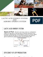 Lactic Acid Energy System