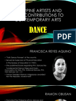 Philippine Artists and Their Contributions to Contemporary Arts (Dance and Theater)