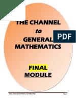 General Math - Final Module