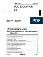 PC78US-8 Troubleshooting of Electrical System (E-Mode)