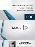 National Artists and Their Contributions to Contemporary Arts (Music)