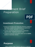 Preparing Investment Brief