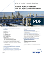 Product Sheet ASME Porocedure