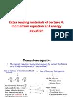 Momentum Equation and Energy Equation